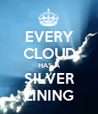 EVERY CLOUD HAS A SILVER LINING - Personalised Poster large