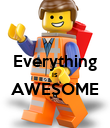 Everything is AWESOME  - Personalised Poster large
