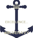 EXCELLENCE...  #BLUENAVY - Personalised Poster large
