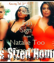 Fan Sign  From Natalie Too Plus Sized'Homos - Personalised Poster large