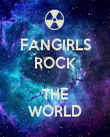 FANGIRLS ROCK  THE WORLD - Personalised Poster large