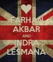 FARHAN AKBAR AND INDRA LESMANA - Personalised Poster large