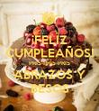 ¡FELIZ CUMPLEAÑOS! PRIS-PRIS-PRIS ABRAZOS Y BESOS - Personalised Poster large