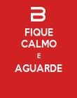 FIQUE CALMO E AGUARDE  - Personalised Poster large