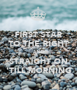 FIRST STAR TO THE RIGHT AND STRAIGHT ON 'TILL MORNING - Personalised Poster large