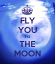 FLY YOU TO THE MOON - Personalised Poster large