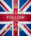 FOLLOW FOLLOW WE WILL FOLLOW RANGERS!!! - Personalised Poster large