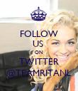 FOLLOW US  ON  TWITTER @TEAMRITANL - Personalised Poster large