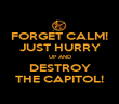 FORGET CALM! JUST HURRY UP AND DESTROY THE CAPITOL! - Personalised Poster large
