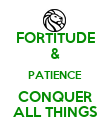 FORTITUDE & PATIENCE CONQUER ALL THINGS - Personalised Poster large