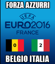 FORZA AZZURRI BELGIO ITALIA - Personalised Large Wall Decal