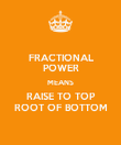 FRACTIONAL POWER MEANS RAISE TO TOP ROOT OF BOTTOM - Personalised Poster large