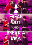 FREAK OUT AND BREAK A VMA - Personalised Poster large