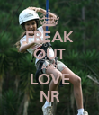 FREAK OUT AND LOVE NR - Personalised Poster large