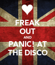 FREAK OUT AND PANIC! AT THE DISCO - Personalised Poster large