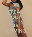 FREAK OUT CARO'S XV IS COMING - Personalised Poster large