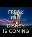 FREAK OUT CAUSE DISNEY IS COMING - Personalised Poster large