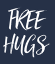 FREE HUGS - Personalised Large Wall Decal