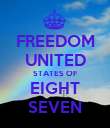 FREEDOM UNITED STATES OF EIGHT SEVEN - Personalised Poster large