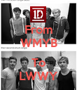 From WMYB  To LWWY - Personalised Poster large