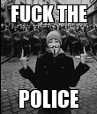 FUCK THE POLICE - Personalised Poster large