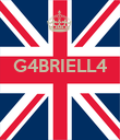 G4BRIELL4    - Personalised Poster large