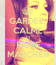 GARDEZ  CALME ET FAIRE MARCHER - Personalised Poster large