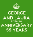 GEORGE AND LAURA 07.09.1957 ANNIVERSARY 55 YEARS - Personalised Poster large