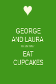 GEORGE AND LAURA 07.09.1957 EAT CUPCAKES - Personalised Poster large