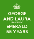 GEORGE AND LAURA 07.09.1957 EMERALD 55 YEARS - Personalised Poster large