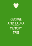 GEORGE AND LAURA 07.09.1957 MEMORY TREE - Personalised Poster large