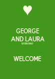 GEORGE AND LAURA 07.09.1957  WELCOME - Personalised Poster large