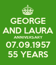 GEORGE AND LAURA ANNIVERSARY 07.09.1957 55 YEARS - Personalised Poster large