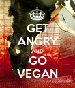 GET ANGRY AND GO VEGAN - Personalised Poster large