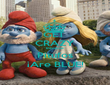 GET  CRAZY Because Pitufos ¡Are BLUE! - Personalised Poster large