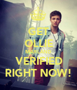 GET OLLIE MARLAND VERIFIED RIGHT NOW! - Personalised Poster large
