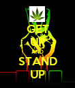 GET UP AND STAND UP - Personalised Poster large