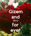 Gizem and VITO for ever - Personalised Poster large