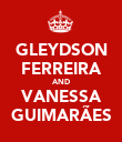 GLEYDSON FERREIRA AND VANESSA GUIMARÃES - Personalised Poster large