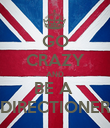 GO CRAZY AND BE A  DIRECTIONER - Personalised Poster large