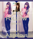 GO FOLLOW @Depok _ Angelous - Personalised Poster large