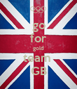 go for gold team  GB - Personalised Poster large