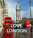 GO WILD AND LOVE LONDON - Personalised Poster large