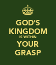 GOD'S KINGDOM IS WITHIN YOUR GRASP - Personalised Poster large