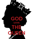 GOD SAVE THE QUEEN - Personalised Poster large