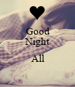 Good Night  All  - Personalised Poster large