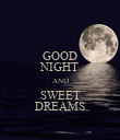 GOOD NIGHT AND SWEET DREAMS - Personalised Poster large