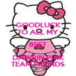 GOODLUCK TO ALL MY BEST DAWRIN PINK TEAM FRIENDS - Personalised Poster small