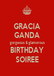 GRACIA GANDA gorgeous & glamorous BIRTHDAY SOIREE - Personalised Large Wall Decal