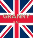 GRANNY PAT   - Personalised Large Wall Decal